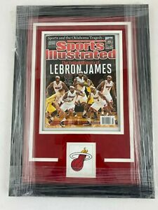 Framed Sports Illustrated Cover Lebron James Miami Heat NBA