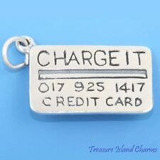 CREDIT CARD CHARGE IT .925 Solid Sterling Silver Charm Money