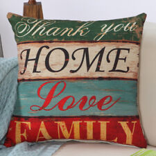 Throw Pillow Case Square Cushion Cover no Insert Fashion Letter Print Home Decor