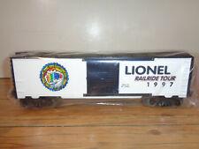 """LIONEL O GAUGE # 6-29225 HORDE """"LIONEL 1997 RAILRIDE TOUR"""" BOX CAR - NEW"""