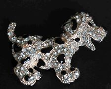 Diamante Puppy Dog Fashion Brooch Pin Venetti Brand New FREE P&P