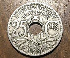 PIECE DE 25 CENTIMES 1932 LINDAUER (188)