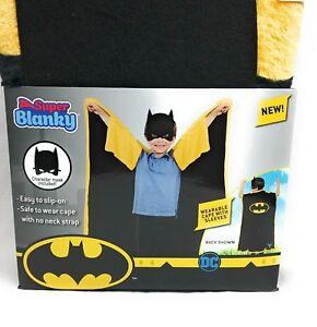 Batman Fleece Super Blanky Wearable Cape with Sleeve Throw Blanket With Mask