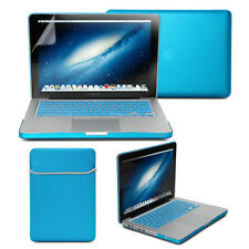 Aqua Blue Frosted Case sleeve Keyboard Cover Screen Protector for MacBook Pro 13