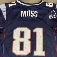 Randy Moss New England Patriots Jersey Boys XL Youth Blue NFL Football Reebok