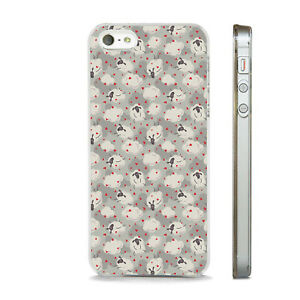 CUTE SHEEP AND HEART PATTERN LOVE PHONE CASE COVER FITS All APPLE IPHONE MODELS