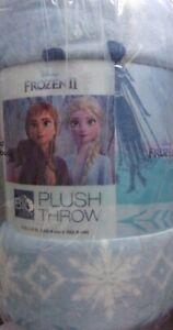 "New The Big One Disney's FROZEN II Elsa & Anna Super Soft Plush Throw 60 x 72"""