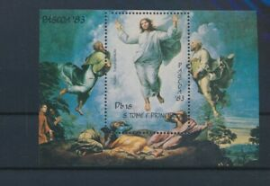 LN23355 Sao Tome e Principe 1983 easter religious art good sheet MNH