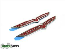 14-18 Jeep Grand & Cherokee Chrome & Red Wing Trailhawk Emblem Set Of 2 Mopar