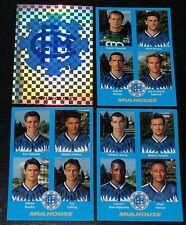 PANINI FOOT 96 FC MULHOUSE ALSACE COMPLET FOOTBALL SAISON 1995-1996