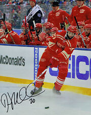DREW MILLER signed DETROIT RED WINGS 8X10 WINTER CLASSIC photo w/ COA