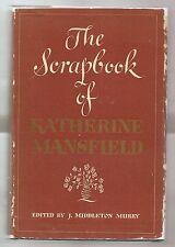 THE SCRAPBOOK OF KATHERINE MANSFIELD 1940 J. MURRY  FIRST EDITION W/DJ 1st PRINT