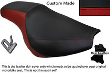 BLACK STITCH CUSTOM FITS SUZUKI 750 GSXR 91-95 REAR LEATHER SEAT COVER