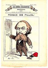 POCHOIR DE GILL 19ème ROQUE DE FILLOL NE SAINTE COLOMBE GIRONDE HOMME POLITIQUE