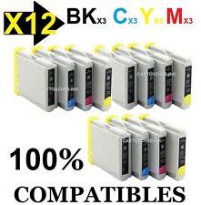 12 Cartouches compatibles Brother Lc57 / Lc960 XL autre Modèles