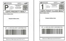 S 200 SHIPPING POSTAGE LABELS/ 2 LABELS PER PAGE 8.5x5.5 USPS FedEx Paypal