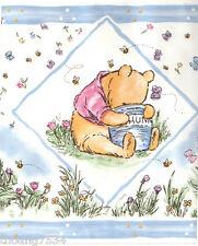 DISNEY Classic Winnie The Pooh Bear Baby Blue Nursery Kid Wall paper Border