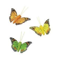 Knorr Prandell 50mm Feather Butterflies 3pcs - Yellow, Orange & Green #8030343