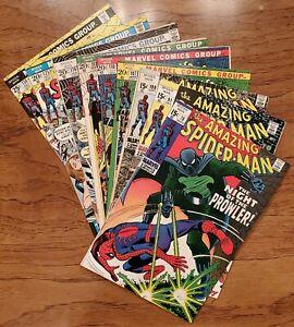 AMAZING SPIDER-MAN LOT OF 9 BOOKS #78,91,100,107,110,112,116,125,134. MANY KEYS!