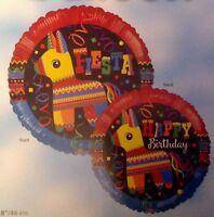 "MEXICAN MEXICO PINATA FIESTA THEMED PARTY 18"" HAPPY BIRTHDAY FOIL BALLOON!"