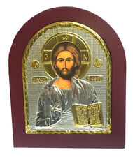 Icon Sale Jesus Christ Byzantine Icon Sterling Silver 925 Size 19x15cm