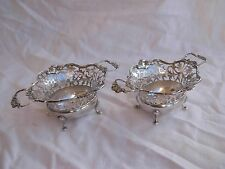 PAIR OF ANTIQUE ENGLISH STERLING SILVER SALT CELLARS,19th CENTURY.