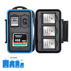 Water-resistant Memory Card Case Holder Storage for 1 CF 2 SD 3 XQD 2 MSD Cards