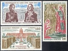 France 1973 Napoleon/Coronation/Civil Code/Law/Buildings/Industry 3v set n43231