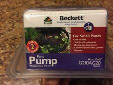 Beckett Pond Pump G210AG20 Versa Gold. Not oil-filled. Safe for Fish & Plants