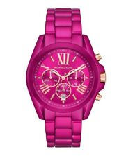 Michael Kors Ladies Bradshaw Electric Pink Chronograph Watch MK6719 New NWT