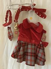 New petco Red Velvet Bling 6 ft Dog Leash S dress L Tie Mad About Plaid