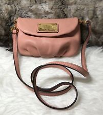 NWT Marc Jacobs Small Natasha Flap Crossbody Shoulder Bag Purse In Pink Blush
