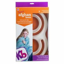 KB Knitting Board Loom Afghan Blanket 60ins Wide Instructions for 3 Projects