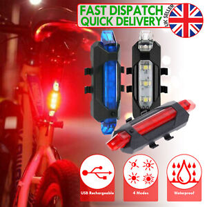 BIKE CYCLE BICYCLE LED LIGHT CYCLING STROBE HEADLIGHT TAILLIGHT USB Rechargeable