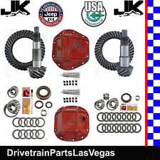 Jeep Wrangler JK Dana 44 30 Re-Gear Ring Pinion Pkg USA Std 5.13 Kits RT Covers