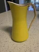 Vintage Mid Century Dansk Yellow Pitcher -  Dansk Kobenstyle Yellow Enamelware P