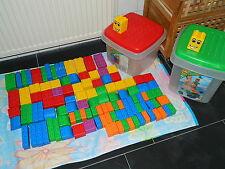 LEGO Quatro 5356 & 5357 - 2 Eimer mit 121 Steinen und 2 Platten - gereinigt TOP