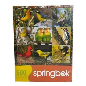 """Springbok Songbird Symphony 500 Piece Jigsaw Puzzle 20"""" x 20"""" New Birds"""