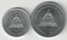2 DIFFERENT COINS from NICARAGUA - 10 CENTAVOS & 1 CORDOBA (BOTH DATING 2012)