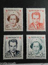MONACO 1949, timbres 334A/337A PRINCESSE CHARLOTTE, RAINIER neufS**, MNH STAMPS