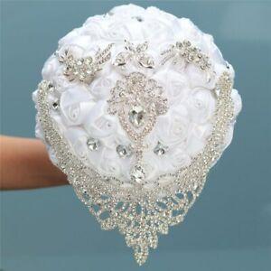 Ramo de Flores para boda novia cinta de ramo artificial Diamante de imitación