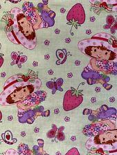 New listing Strawberry Shortcake Fabric Fq Spectrix 2004~on green background