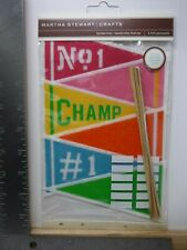 New listing Martha Stewart Crafts Pack Of Six Felt Pennants Champ #1 New A18409