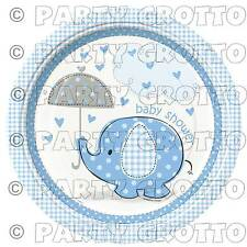 BLUE ELEPHANTS ANIMALS Baby Shower Boy Party Supplies Tableware Decorations