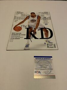 Kevin Durant Signed SI Magazine PSA/DNA Golden State Warriors Autographed KD