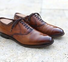 Gorgeous $400 Allen Edmonds Carlyle Oxford in Custom Antiqued Walnut 10 E