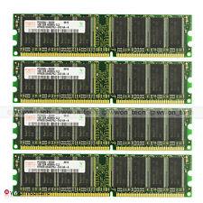 Hynix 4GB Kit 4x1GB PC3200 DDR 400MHz DDR1 Low Density Desktop Memory Unbuffered