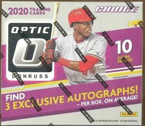 2020 PANINI DONRUSS OPTIC CHOICE BASEBALL FACTORY SEALED BOX
