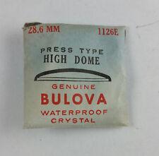 VINTAGE BULOVA PRESS TYPE HIGH DOME WATCH CRYSTAL - 28.6mm - PART# 1126E