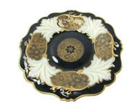 Echt Weimar Cobalt Kobalt Porcelain Jutta Platter Bowl Germany 31337 Antique